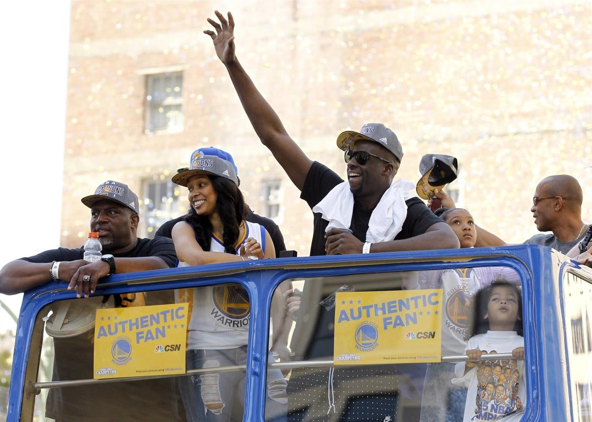 Warriors green having nba championship parade in michigan
