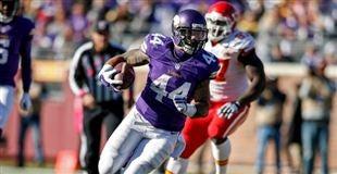 Jerseys NFL Outlet - Minnesota Vikings slip pass St. Louis Rams in OT 21-18