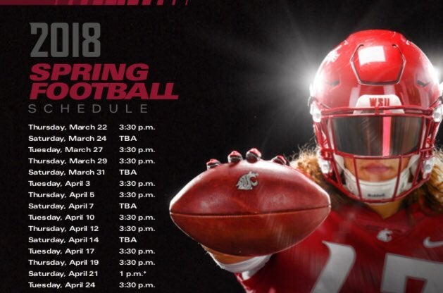 Wsu Football Schedule 2019 2018 WSU spring football schedule