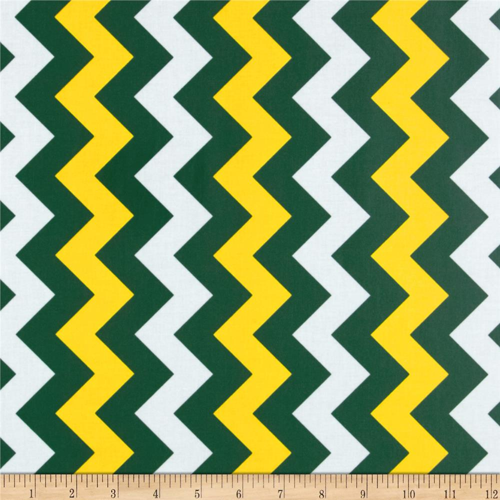 Yellow And Blue Chevron Background - SH