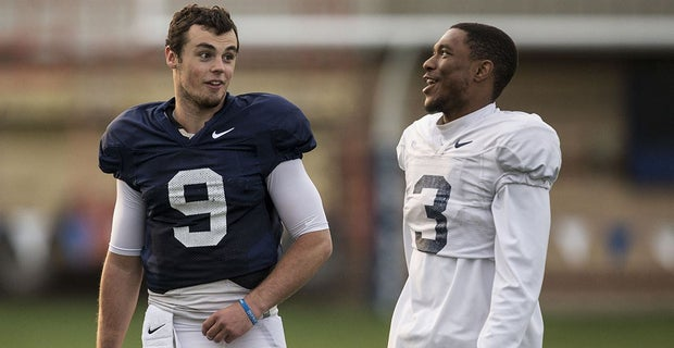 Penn State QB Trace McSorley and WR DeAndre Thompkins. (Photo  Harvey  Levine FOS) 195f7bd4d