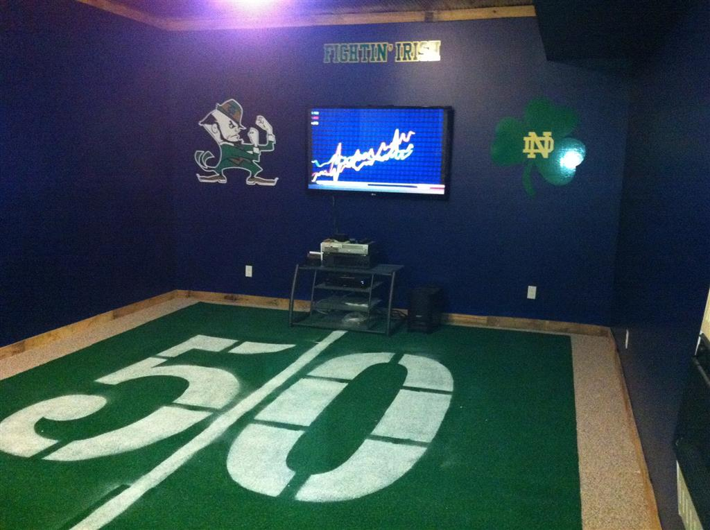 Gridiron Carpet Tiles Man Cave Football Carpet Floor