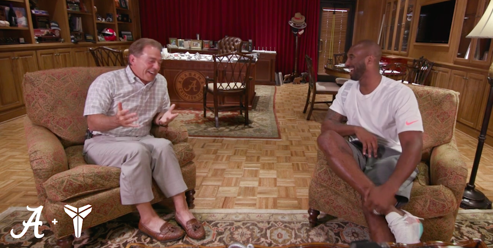 Watch 15-minute conversation between Nick Saban, Kobe Bryant