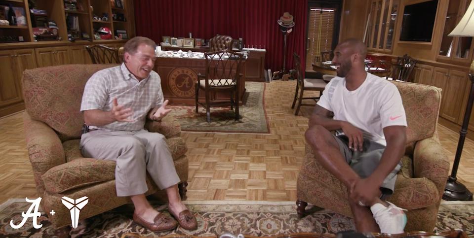 Watch 15-minute conversation between Nick Saban, Kobe Bryant