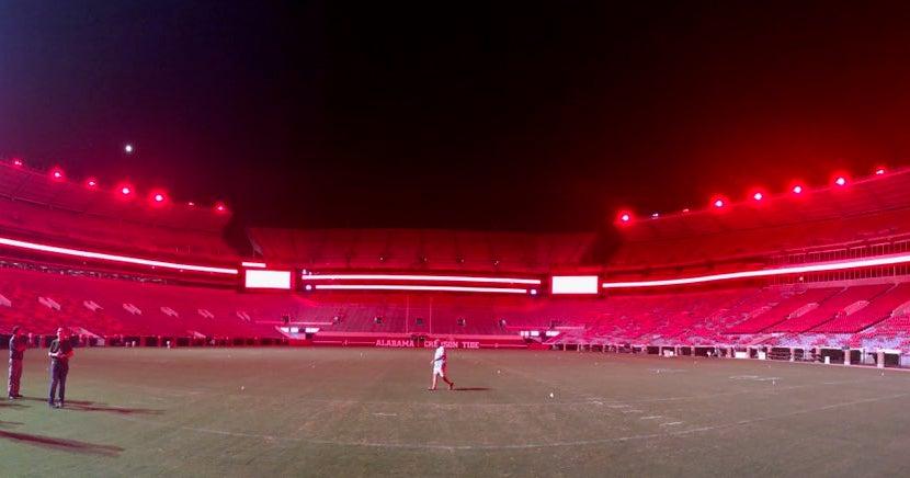 New Led Lights Could Turn Bryant Denny Stadium Crimson