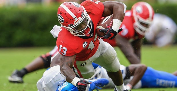 21562351ec9 Georgia junior running back Elijah Holyfield (Photo: Dale Zanine, USA TODAY  Sports)