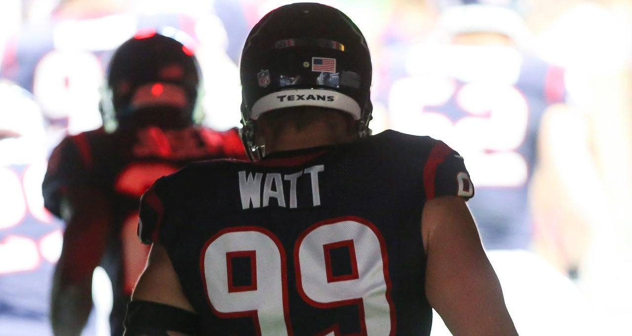 low priced f1a77 e75d0 J.J. Watt Finalist for the Walter Payton Man of the Year Award