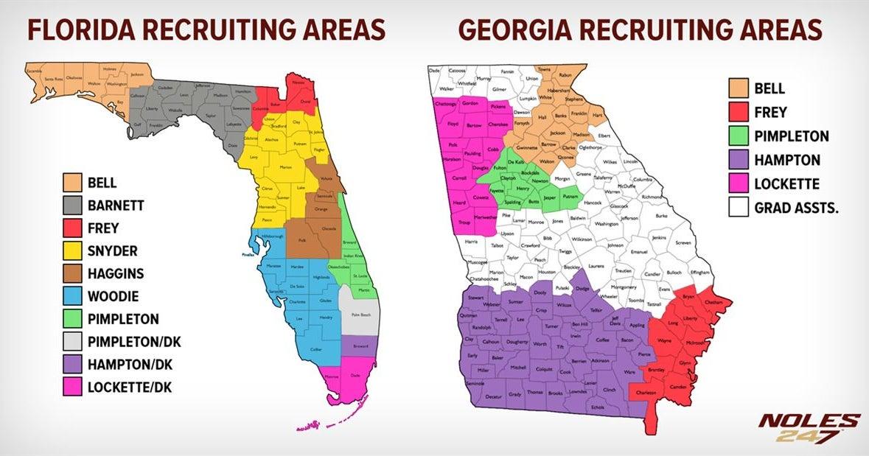Divide Conquer Fsu Coaches Recruiting Territories