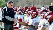 Arkansas head coach Sam Pittman joins 'We want to play' movement