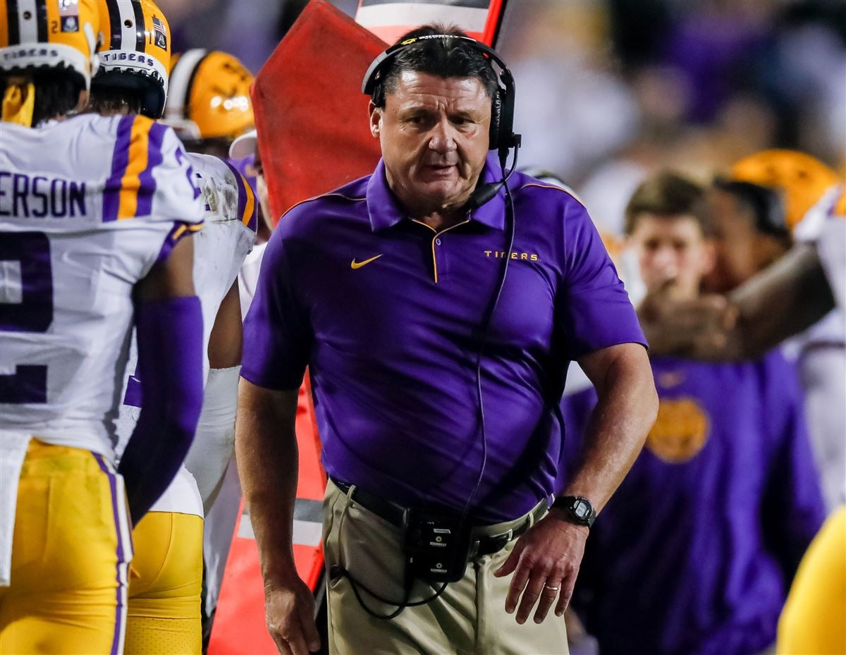 Ed Orgeron after LSU's win: No celebrating for beating Arkansas