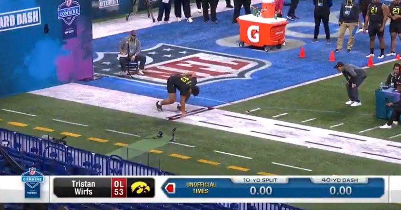 WATCH: Tristan Wirfs runs 40-yard dash at NFL Combine