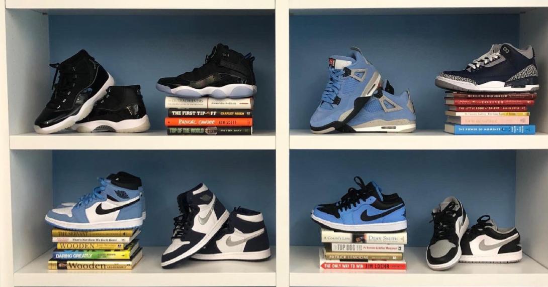 Courtney Banghart Remodels Office With Air Jordan Sneakers