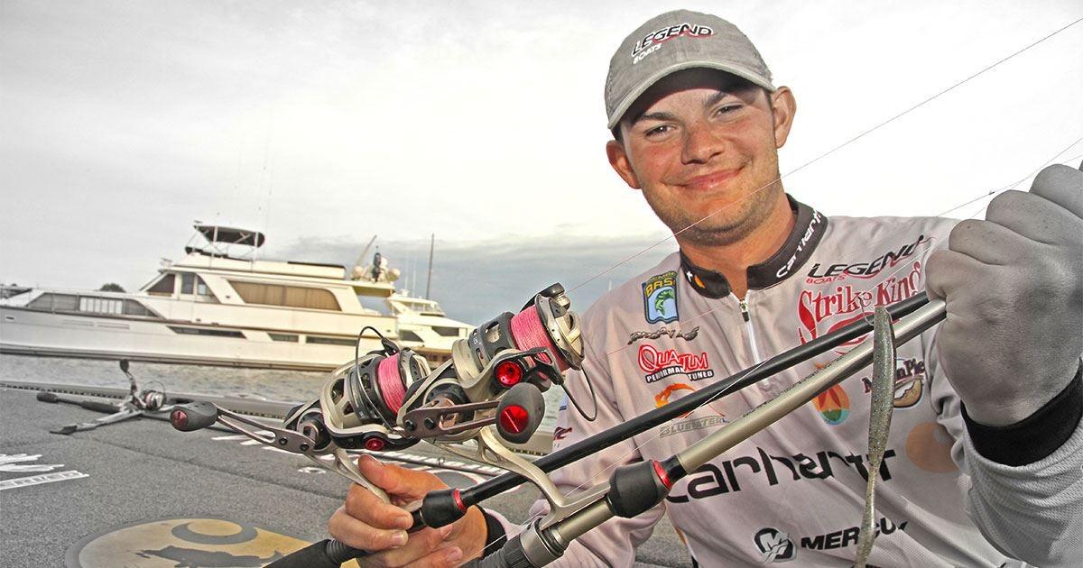 Why jordan lee uses pink braided fishing line for Pink braided fishing line