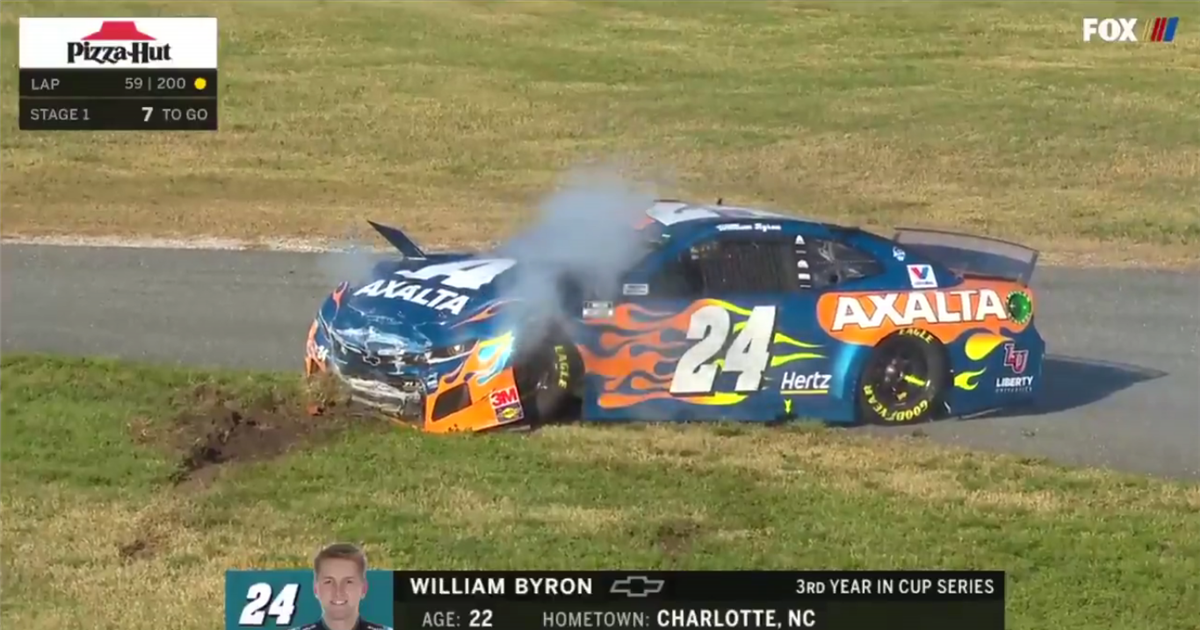 William Byron crashes out in first accident of Daytona 500