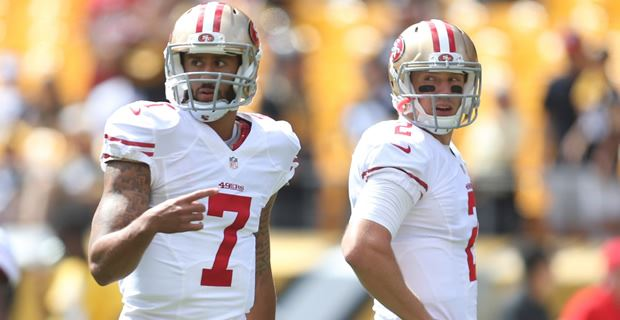 NFL Jerseys Online - Blaine Gabbert to start for the San Francisco 49ers in Seattle