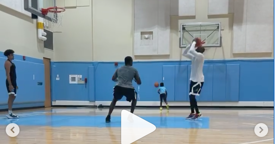 Jawad Williams Flexes Vet Moves in One-on-Ones with Carolina Family