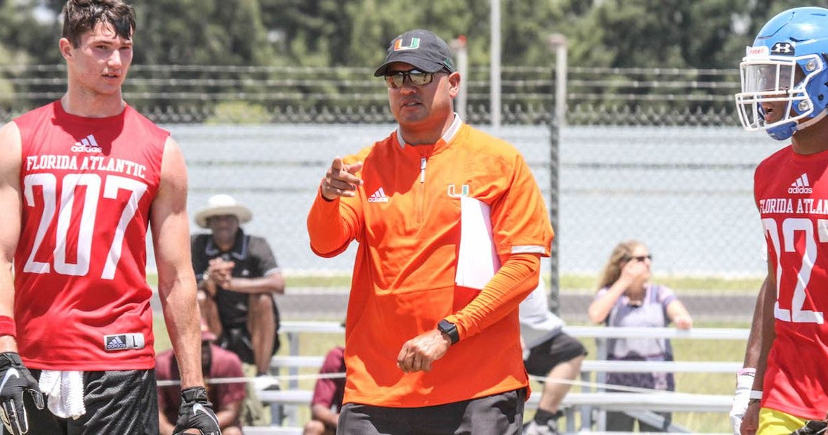 The recruiting territories for Miami's assistant coaches