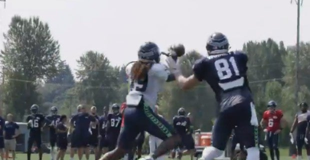Seahawks camp  Shaquem Griffin nabs pick at Monday practice d228a93f8