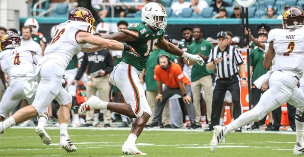 buy popular 8f860 f1cb8 Miami opened up the defensive line rotation vs. Central Michigan
