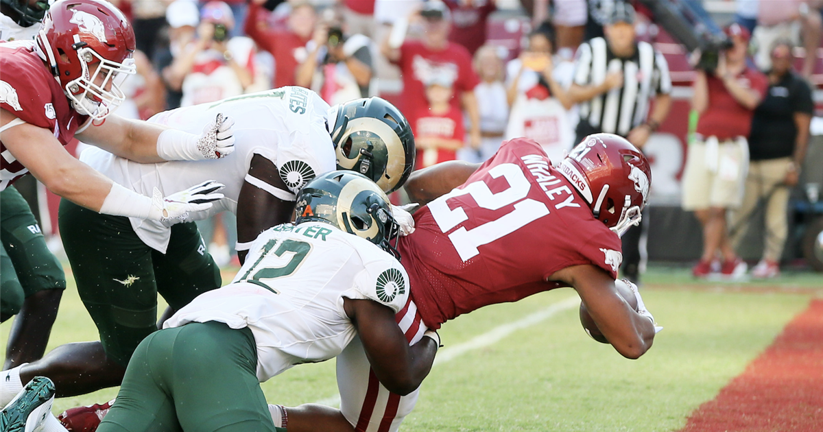 Razorback running game gets rolling against Rams