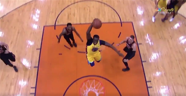 Watch: Draymond Green rises for strong slam