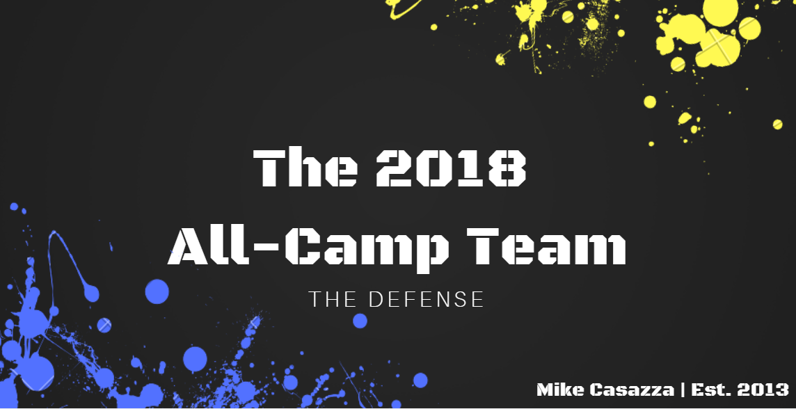 The 2018 All-Camp Team: Defense