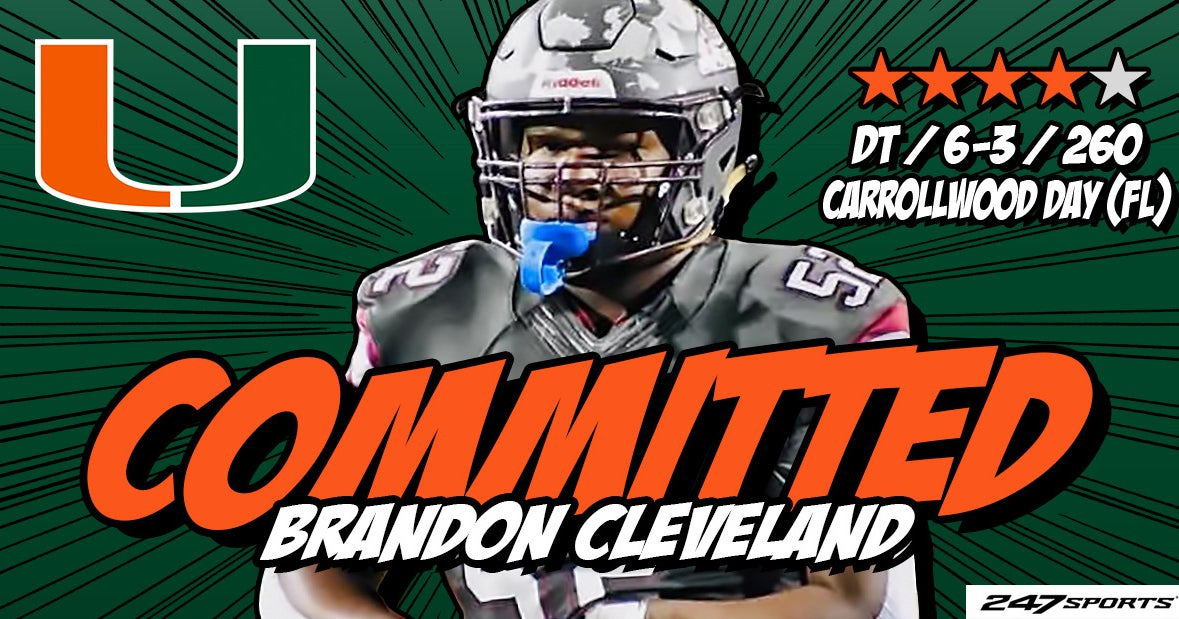 Miami lands commitment from 2022 DL Brandon Cleveland