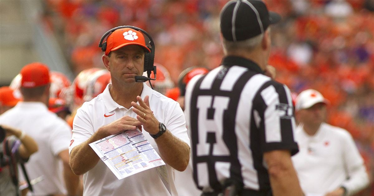 Dabo Swinney recaps FSU win in Sunday teleconference