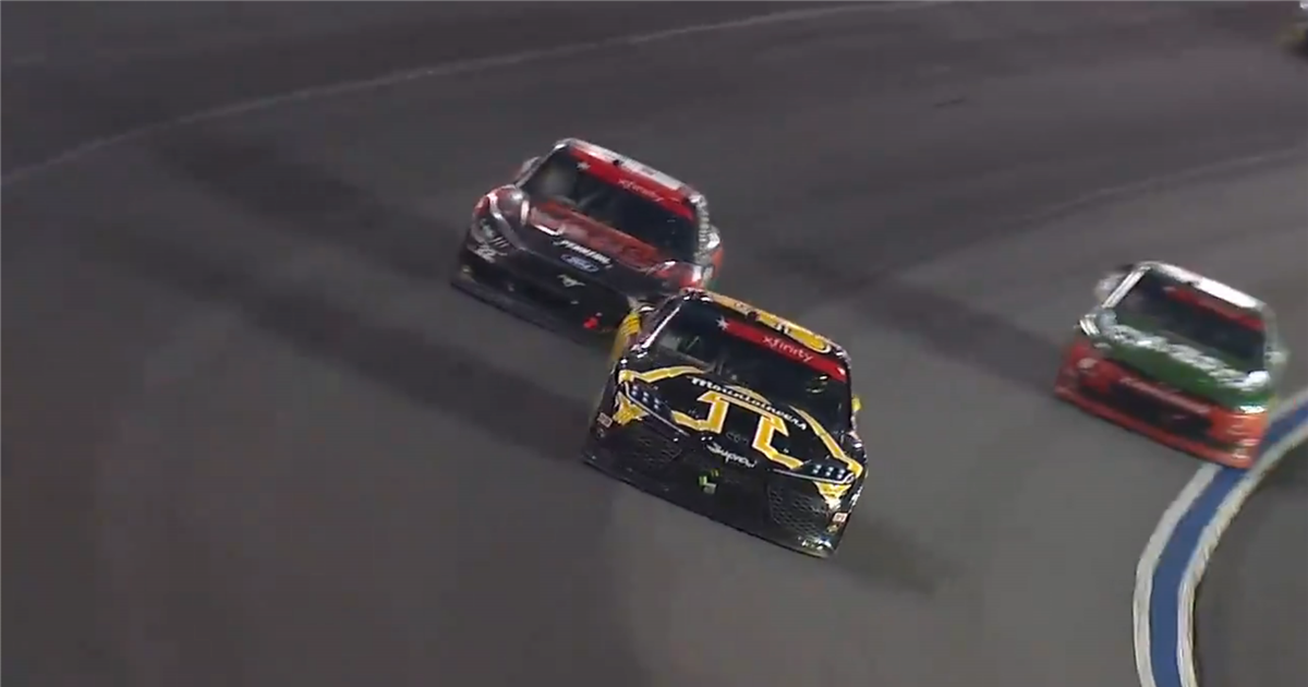 Kyle Busch wins in App State car with last lap pass at Charlotte
