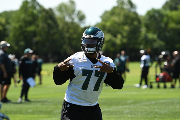 quality design 4ab71 7e95f Michael Bennett switches jersey number as Eagles camp begins