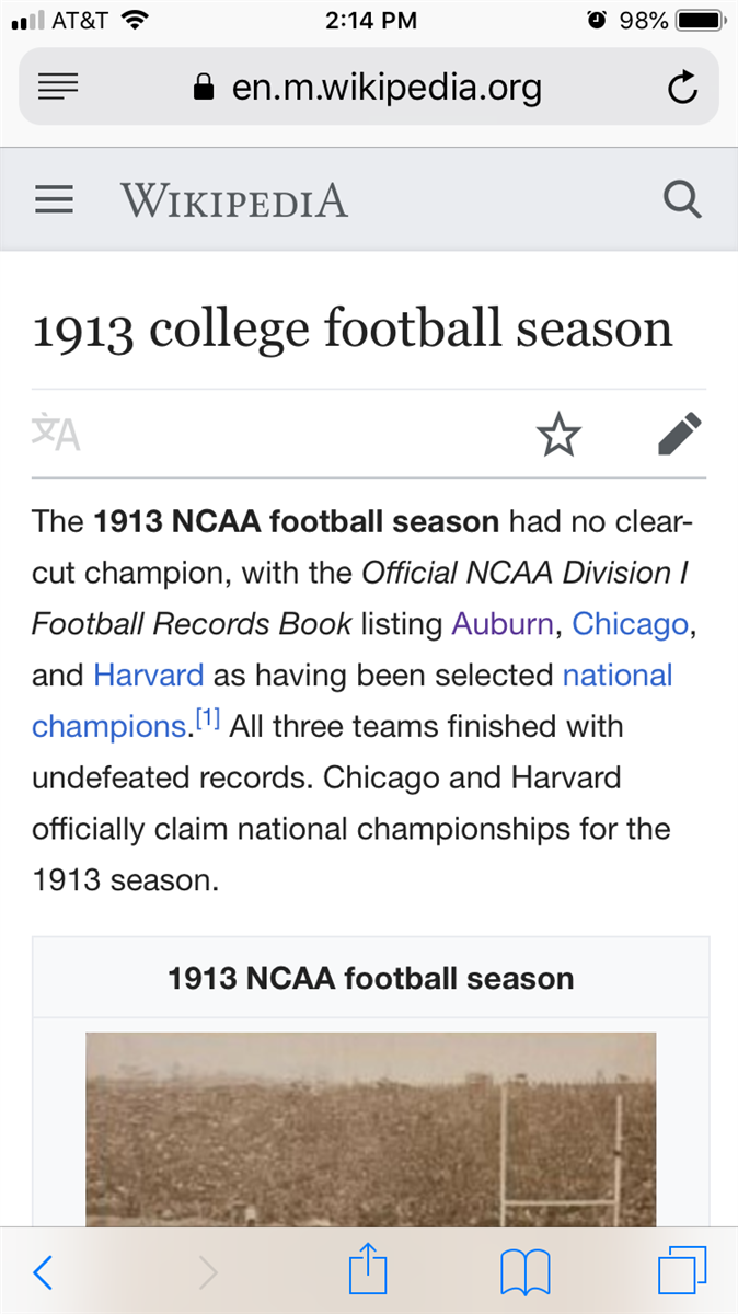 Why Does Au Not Claim 1913 As Nc