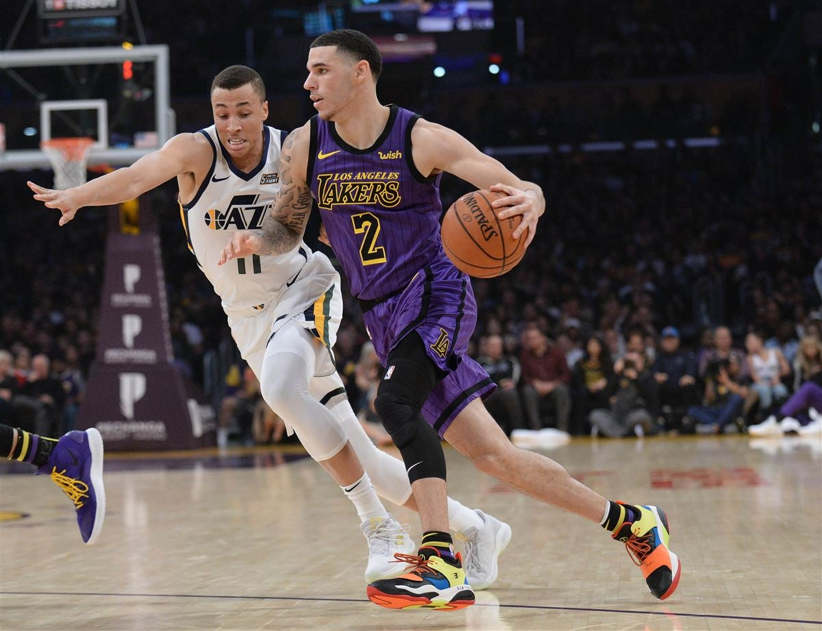 7dc028d4a54 Lonzo Ball will miss four to six weeks with ankle sprain