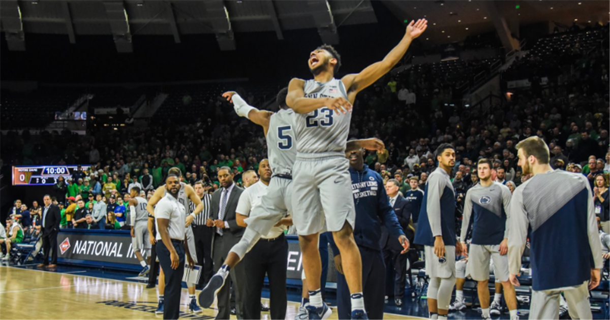 Penn State men's basketball never trails at No. 1 Notre Dame, makes NIT quarters