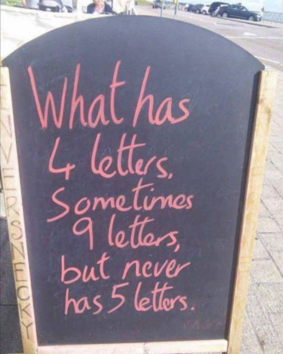 Your riddle of the day