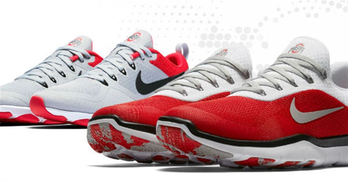 Ohio State Themed Nike Shoes