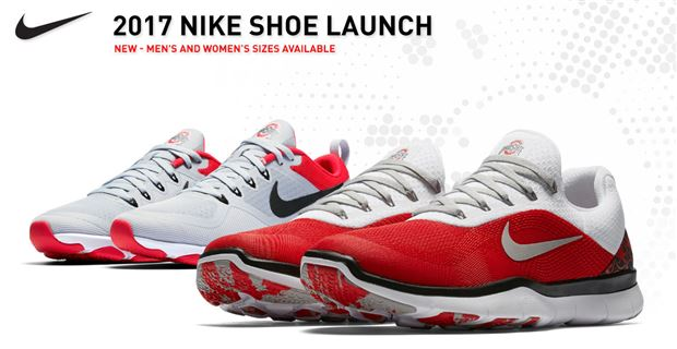 The latest version of Nike's Ohio State themed shoes launch on Monday and  are available via the 247Sports' Fanatics shop (Photo: courtesy of Nike)