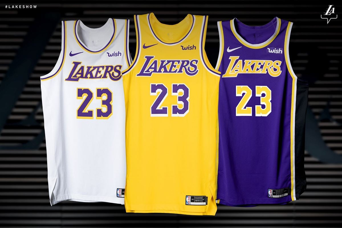 255e66a0 WATCH: Lakers unveil new Showtime-inspired jerseys