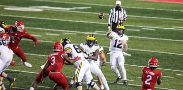 Jim Harbaugh declines to name starting QB for Penn State game