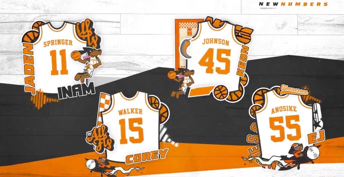 Tennessee basketball announces jersey numbers for newcomers