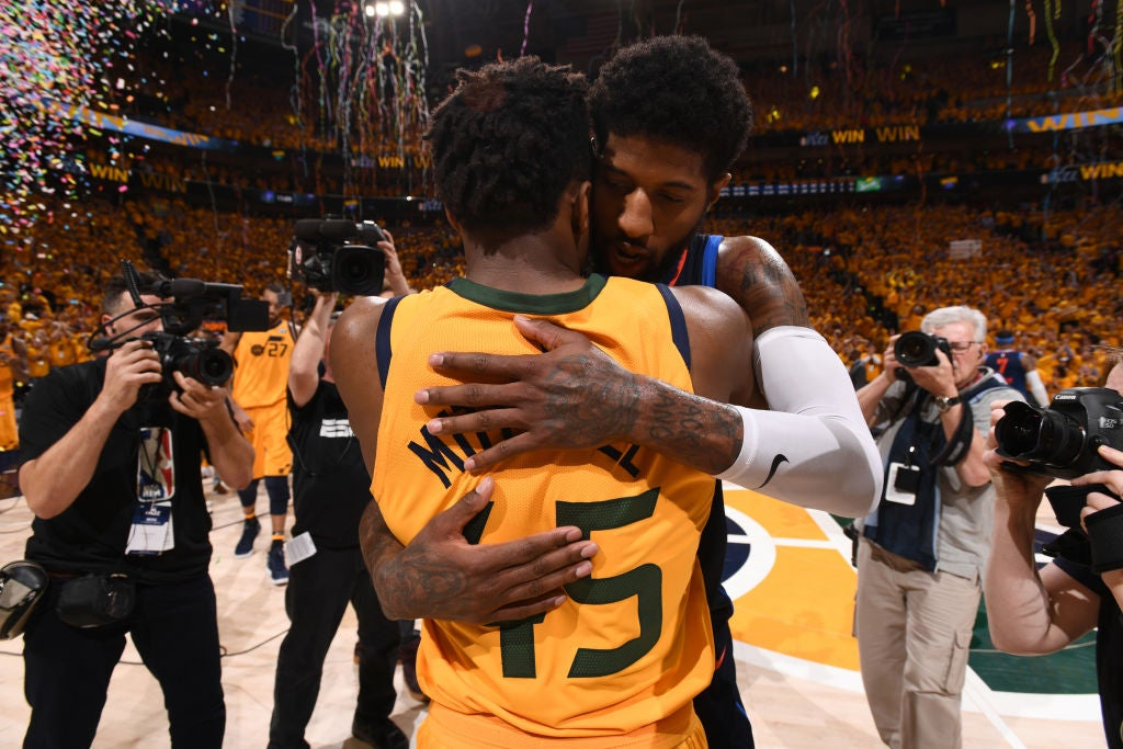 Jazz's Donovan Mitchell is recruiting Paul George to Utah