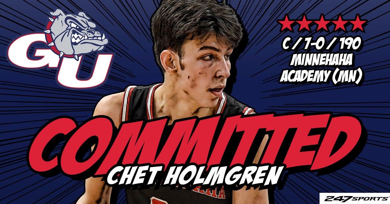 Chet Holmgren Commits To Gonzaga