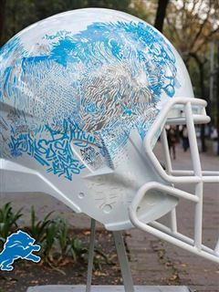 Excellent Mexican Artists Re Design Detroit Lions Helmet Cbssports Com Download Free Architecture Designs Sospemadebymaigaardcom