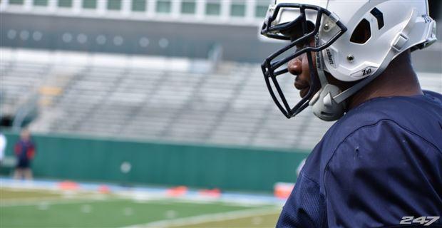 Auburn Offensive Lineman Prince Tega Wanogho Watches A Sugar Bowl Practice Dec 29 2017 At Yulman Stadium On The Campus Of Tulane University