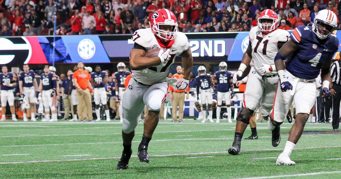 50e213346 Nick Chubb projected rookie of year by Colin Cowherd