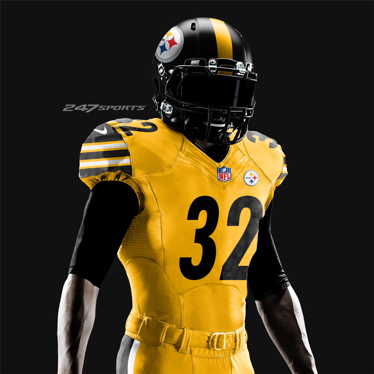 steelers all gold jersey