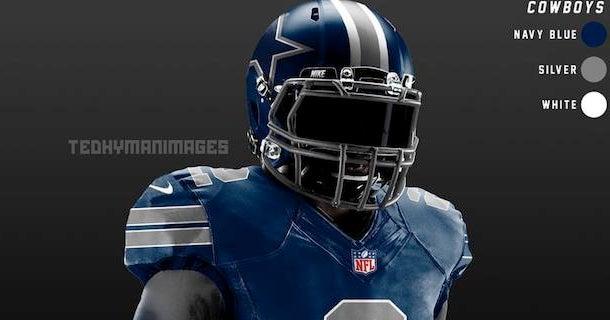 LOOK  Dallas Cowboys alternate  Color Rush  uniform concept 40360e773