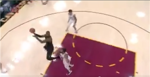 Watch: LeBron James hits off-balance shot