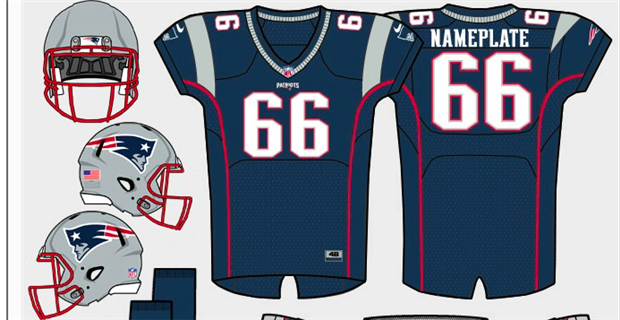usa the new england patriots will be rocking their blue home jerseys  despite being on the a014ea19b