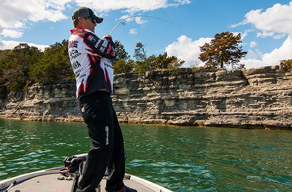 Terry Scroggins Sets The Hook On A Bass With Spinning Gear