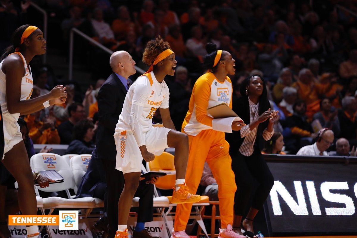 Lady Vols bench